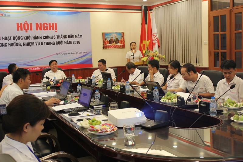 Tin tức CADISUN: Hội nghị Sơ kết hoạt động Sản xuất – Kinh doanh các Khối 6 tháng đầu năm 2016